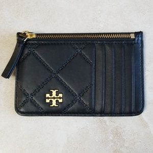 *New* Tory BurchGeorgia Quilted Zip Card Case
